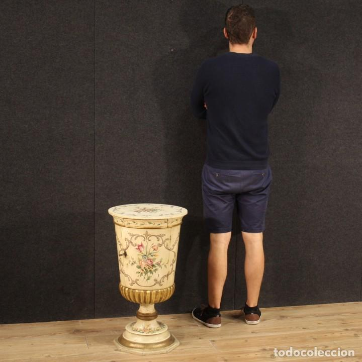 Antigüedades: Mesilla italiana dorada y pintada - Foto 12 - 288928913