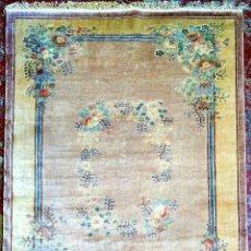 Antigüedades: ALFOMBRA CHINA DE SEDA. ANUDADA A MANO. 122X182 CM. CHINA. CIRCA 1970. Lote 288947548