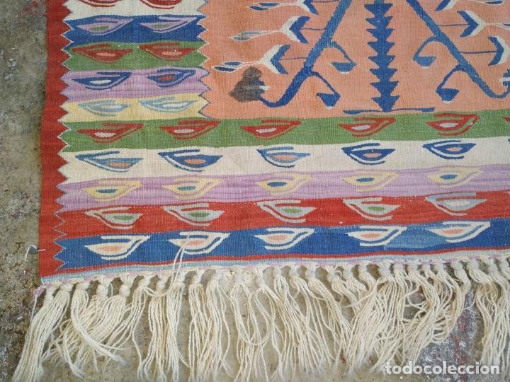 Antigüedades: KILIM. LANA TEJIDA A MANO. 90X112 CM. TURQUIA (?). CIRCA 1970 - Foto 7 - 288952818