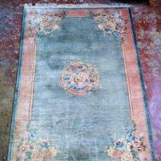 Antigüedades: ALFOMBRA CHINA DE SEDA. ANUDADA A MANO. 152X240 CM. CHINA. CIRCA 1980. Lote 288957238