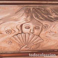 Antigüedades: PLACA DE PLATA DE LEY MODERNISTA ART NOUVEAU FIRMADA CASTELLANI ANTIQUE UNIQUE. Lote 288971313