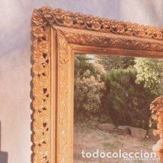 Antigüedades: PRECIOSO ESPEJO CLÁSICO FLORAL ANTIQUE UNIQUE. Lote 288977188