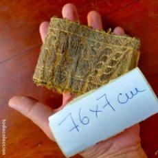 Antigüedades: ANTIGUO ANCHO GALON DE 7 CM IDEAL CONFECCIONES RELIGIOSAS VIRGEN FAJIN SEMANA SANTA 76 X 7 CM. Lote 288983548