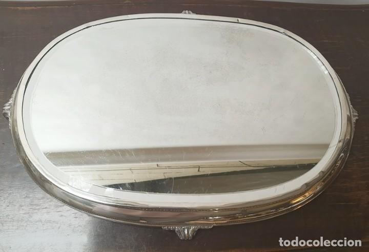 Antigüedades: Bandeja Antigua Espejo - Foto 5 - 289000953