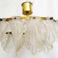 Antigüedades: RARISIMA LAMPARA CRISTAL FAGERLUND ORREFORS CASCADA VINTAGE MID-CENTURY. Lote 289006573