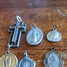 Antigüedades: LOTE DE 6 MEDALLAS, COLGANTES RELIGIOSOS ANTIGUOS. Lote 289195518