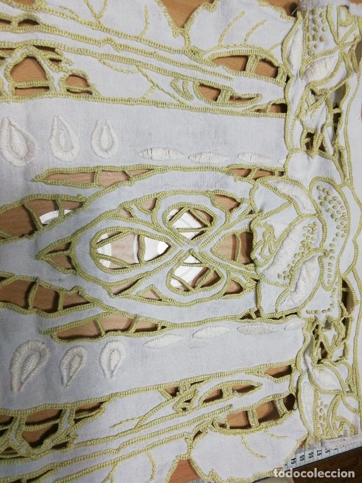 Antigüedades: *, CORTINAS MODERNISTA DE LINO. 90CM (Rf:427/b) - Foto 3 - 289221378