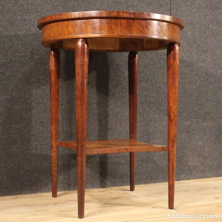 Antigüedades: Mesa auxiliar francesa con incrustaciones en estilo Art Deco - Foto 9 - 289230128