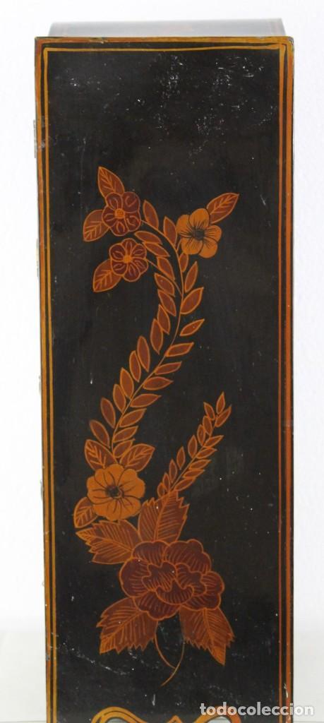 Antigüedades: Mueble joyero chino en madera lacada y pintada a mano. Mediados del siglo XX - Foto 8 - 289241518