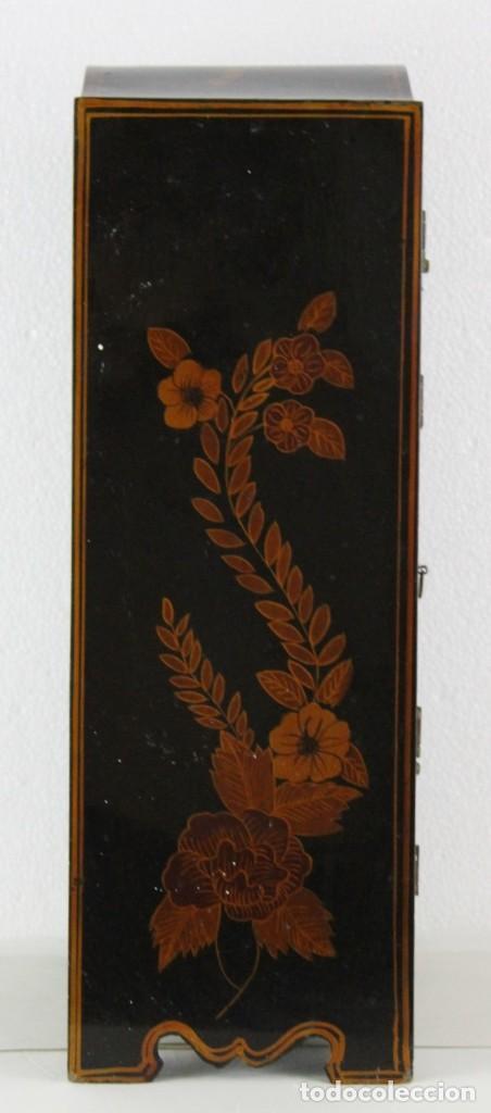 Antigüedades: Mueble joyero chino en madera lacada y pintada a mano. Mediados del siglo XX - Foto 10 - 289241518