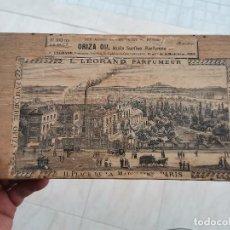 Antigüedades: SEC XIX CAJA L. LEGRAND PARFUMEUR PARIS , GRABADO DE ÉPOCA MUY RARO. Lote 289305063