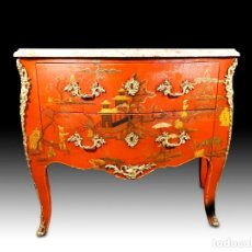 Antigüedades: CÓMODA DE LACA CHINA ESTILO LUIS XV XIX. Lote 289310868