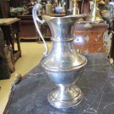 Antigüedades: JARRA DE ALPACA PLATEADA. Lote 289324478
