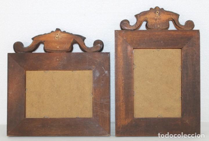 Antigüedades: Dos marcos de madera tallada - Foto 4 - 289330558