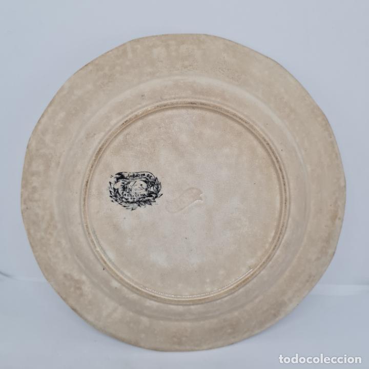 Antigüedades: MUY BONITO PLATO,AMOR DE PADRE,CERAMICA DE LA AMISTAD,CARTAGENA,(MURCIA),S. XIX - Foto 4 - 289346188