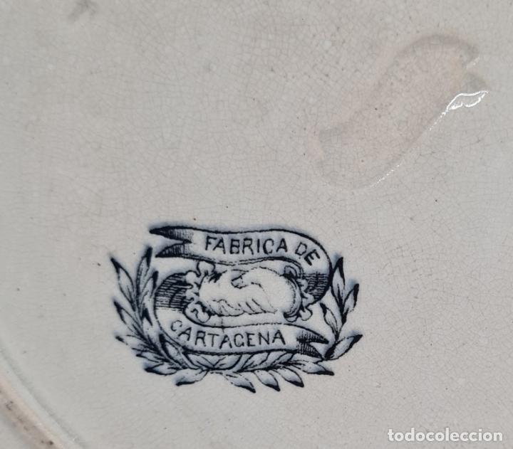 Antigüedades: MUY BONITO PLATO,AMBICION AL DINERO,CERAMICA DE LA AMISTAD,CARTAGENA,(MURCIA),S. XIX - Foto 5 - 289347723