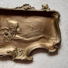 Antigüedades: ANTIGUA BANDEJA O TARJETERO MODERNISTA -ART NOUVEAU .FINAL XIX SIGLO. Lote 289348243