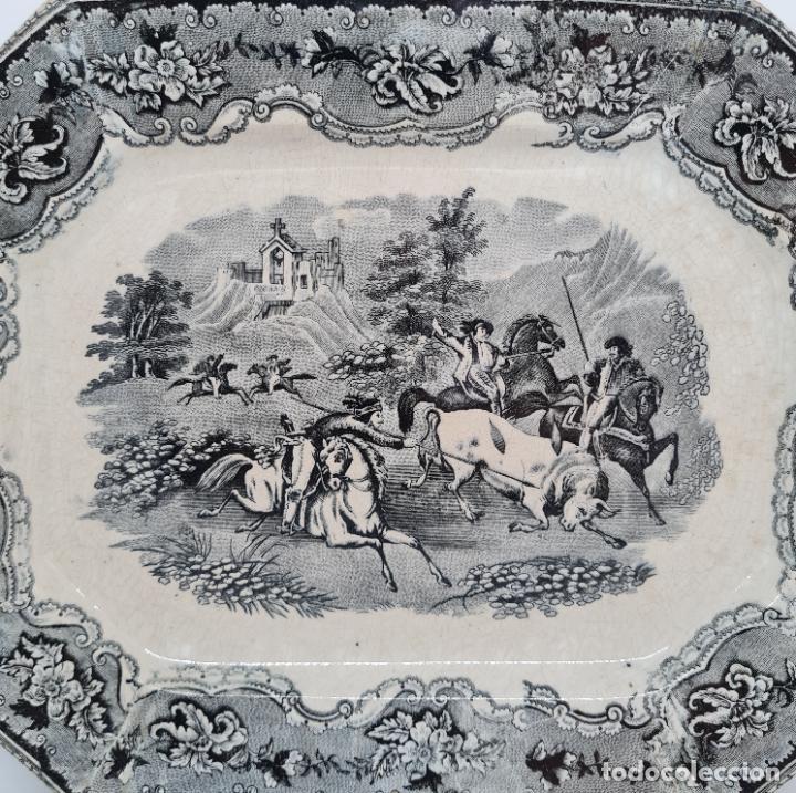 Antigüedades: EXCEPCIONAL FUENTE,BANDEJA DE LA FABRICA LA AMISTAD,CARTAGENA,(MURCIA),S.XIX - Foto 2 - 289348793
