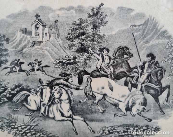 Antigüedades: EXCEPCIONAL FUENTE,BANDEJA DE LA FABRICA LA AMISTAD,CARTAGENA,(MURCIA),S.XIX - Foto 4 - 289348793