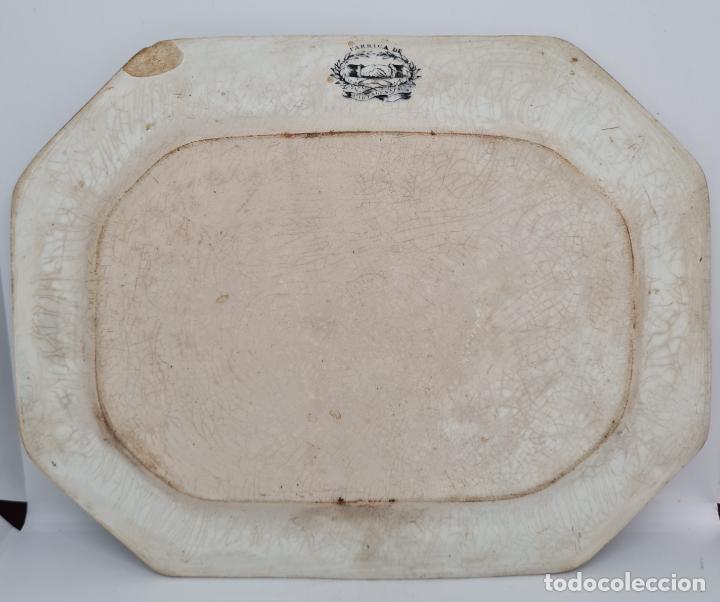 Antigüedades: EXCEPCIONAL FUENTE,BANDEJA DE LA FABRICA LA AMISTAD,CARTAGENA,(MURCIA),S.XIX - Foto 5 - 289348793