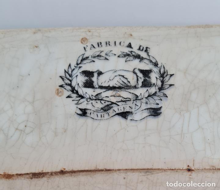 Antigüedades: EXCEPCIONAL FUENTE,BANDEJA DE LA FABRICA LA AMISTAD,CARTAGENA,(MURCIA),S.XIX - Foto 7 - 289348793