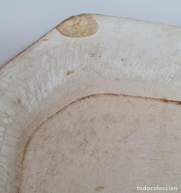 Antigüedades: EXCEPCIONAL FUENTE,BANDEJA DE LA FABRICA LA AMISTAD,CARTAGENA,(MURCIA),S.XIX - Foto 8 - 289348793