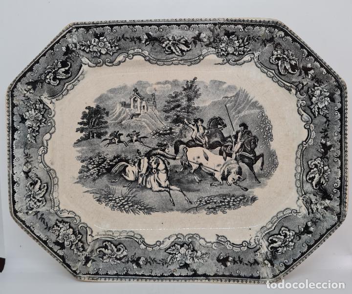 EXCEPCIONAL FUENTE,BANDEJA DE LA FABRICA LA AMISTAD,CARTAGENA,(MURCIA),S.XIX (Antigüedades - Porcelanas y Cerámicas - Cartagena)