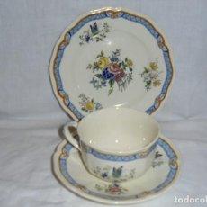 Antigüedades: TAZA DE CAFE CON PLATO Y PLATO DE POSTRE.ROYAL DOULTON JACKFIELD. Lote 289354738