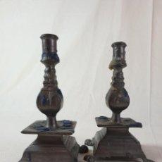 Antigüedades: CANDELABROS CALAMINA. Lote 289423358