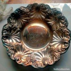 Antigüedades: BANDEJA METAL PLATEADO IDEAL CAPILLA VIRGEN , 29 CM DE DIAMETRO. Lote 289479123