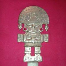 Antigüedades: AMULETO PERUANO DE LA SUERTE, EN BRONCE. Lote 289495373