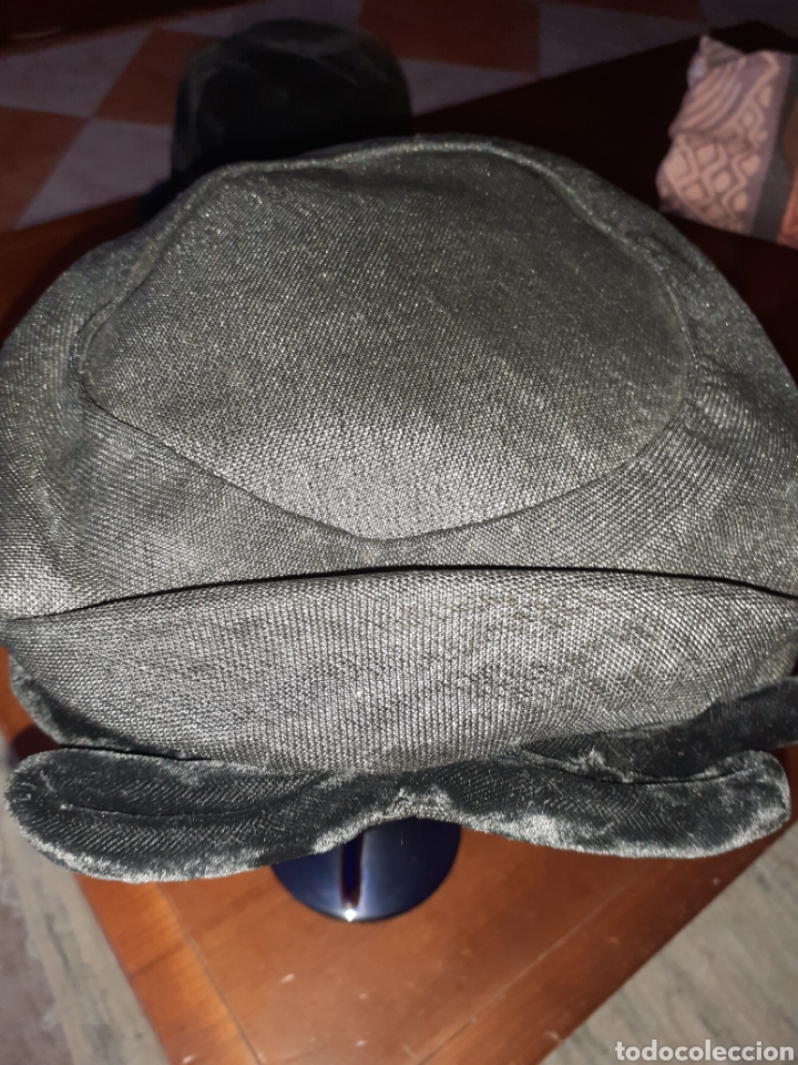 Antigüedades: Antiguo sombreso tipo casquete .Es de los años 40 .Se conseva bien.Tal cuas se ve en las fitis. - Foto 3 - 289507268