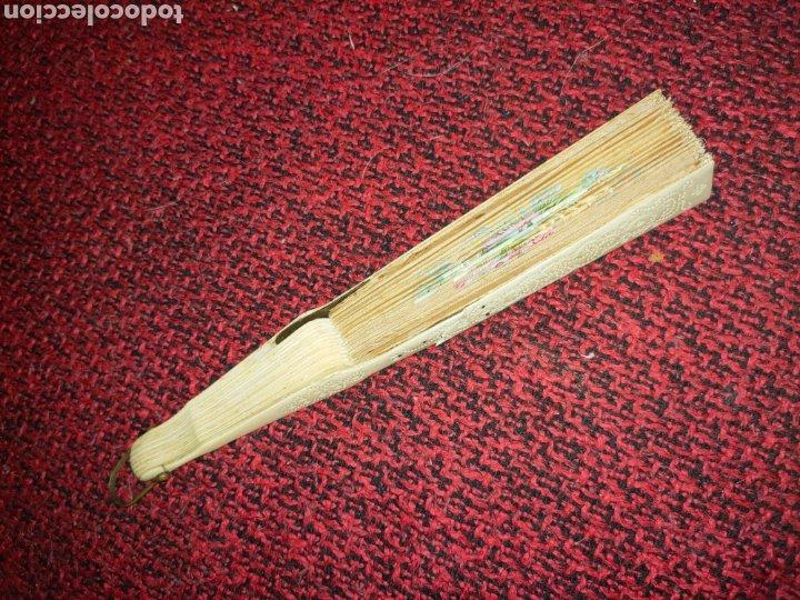 Antigüedades: ABANICO SIGLO XIX EN MARFIL Ó HUESO PINTADO A MANO CON BOUQUET FLORAL - Foto 7 - 289526588