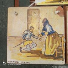 """Antigüedades: AZULEJO OLAMBRILLA CERÁMICA SANTA ANA """"TRIANA"""". Lote 289526678"""