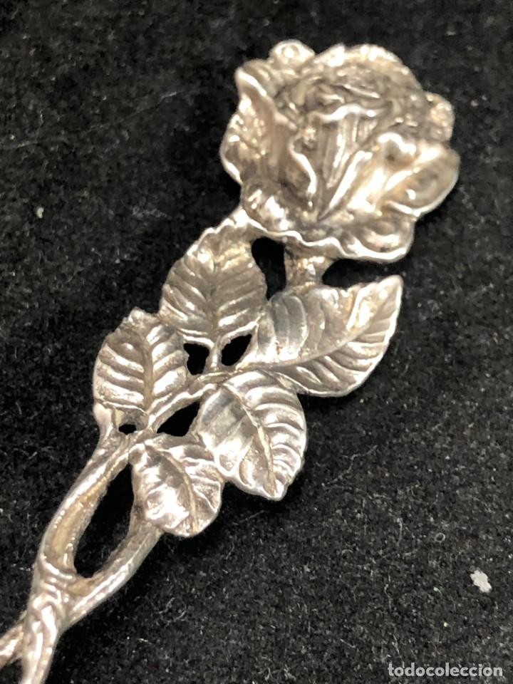 Antigüedades: Pareja de pequeños cuchillos de plata de ley, de colección. Recuerdos de Viajes. buen estado. 925 - Foto 7 - 289538833