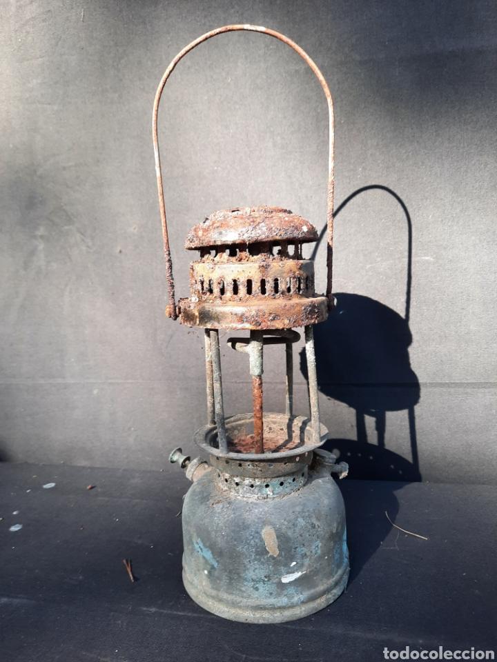ANTIGUA LÁMPARA DE PETRÓLEO (Antigüedades - Iluminación - Otros)