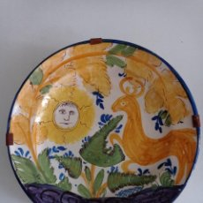 Antigüedades: RIBESALBES , ANTIGUO PLATO CERÁMICA VIDRIADA PINTADO A MANO PERFECTO ESTADO. Lote 289688618