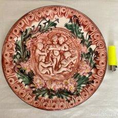 Antigüedades: PLATO DE PORCELANA TIPO CAPODIMONTE, HECHO EN MANISES AÑOS 70. Lote 289713378