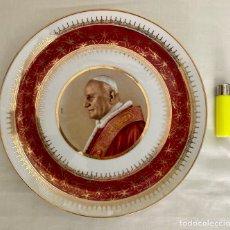 Antigüedades: PLATO DE PORCELANA, PAPA JUAN XXIII, AÑOS 60. Lote 289713963