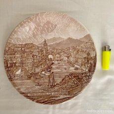 Antigüedades: PLATO DE PORCELANA, TEMA BILBAO AÑOS 70. Lote 289714493