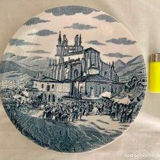 Antigüedades: PLATO DE PORCELANA,TEMA BILBAO AÑOS 70. Lote 289714738