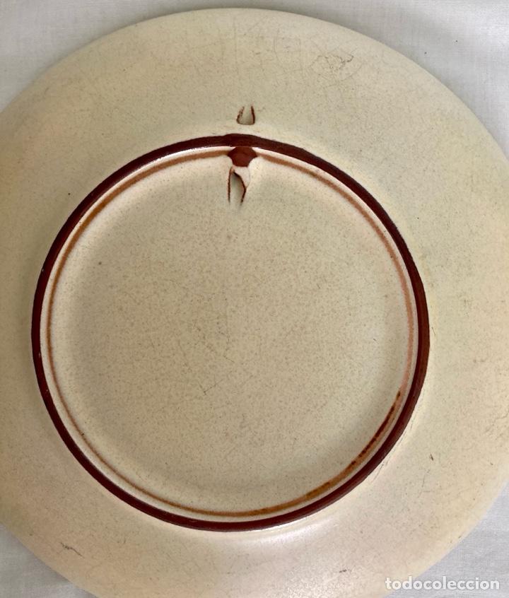 Antigüedades: Plato de porcelana, LLORET DE MAR , de antiguo - Foto 2 - 289714888