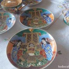 Antigüedades: JUEGO DE TÉ PORCELANA CHINA O JAPONESA MUY ANTIGUO. Lote 289715873