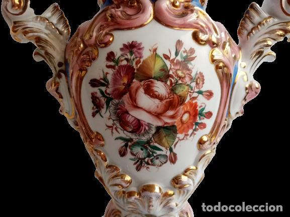Antigüedades: JARRON TIPO SEVRES PORCELANA SELLADA CON ESCENAS FRAGONARD - Foto 6 - 289732473