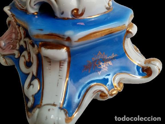 Antigüedades: JARRON TIPO SEVRES PORCELANA SELLADA CON ESCENAS FRAGONARD - Foto 9 - 289732473
