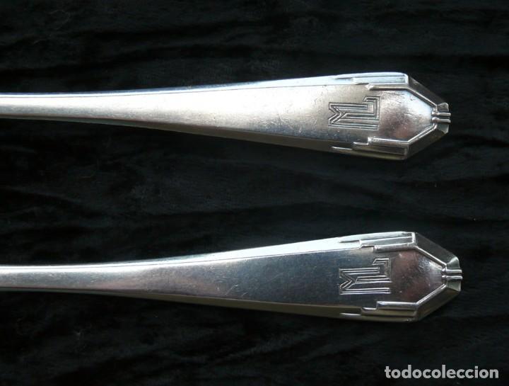 Antigüedades: Cuchara y un tenedor. plata 950. francia. Siglo 19 - Foto 8 - 289737768