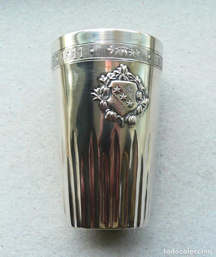 Antigüedades: Antiguo vaso de plata .Suiza. 1911 - Foto 2 - 289739428
