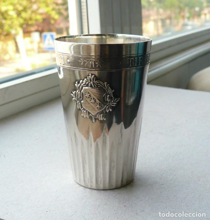 Antigüedades: Antiguo vaso de plata .Suiza. 1911 - Foto 9 - 289739428