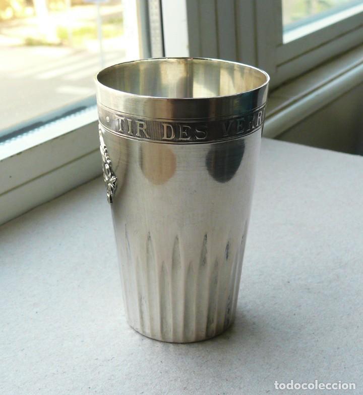 Antigüedades: Antiguo vaso de plata .Suiza. 1911 - Foto 11 - 289739428