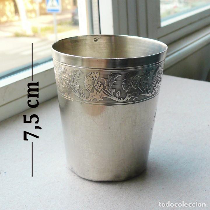Antigüedades: Antiguo vaso de plata . Francia siglo XIX - Foto 3 - 289740263